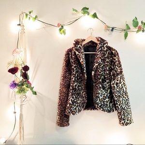 Jackets & Blazers - Tulle Anthropologie leopard print coat